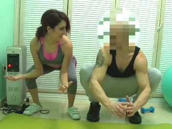 Banging my personal trainer... Heheheh, I told him I wanna be a policewoman and I need special lessons ;P.